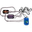 "Aluminum Dog Tag with Ball Chain - Aluminum dog tag with 30"" ball chain."