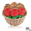 Red Roses Cookie Gift Basket- 36pc - Baskets packed with our classic cookies and 3 of our famous hand-iced sugar cookies.