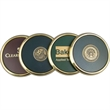 Solid brass coaster - Solid brass coaster with leather insert.