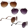 "Aviator Sunglasses - Aviator sunglasses; 5 1/2"" x 2"" x 3/4""."