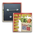 Square Button w/ Pin - Square shaped button with safety pin backing and full color imprint.