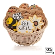 Bee Well Cookie Gift Basket- 48pc - Baskets packed with our classic cookies and 3 of our famous hand-iced sugar cookies.