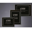 "Onyx Large Plaque Award - 12"" x 9"" plaque award with black piano finish."