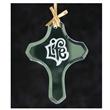 Cross Jade Glass Ornament