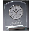 Venus Clock - Desktop clock with rounded top, silver metal accents, Roman numerals, second hand and deluxe quartz movement.