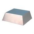 "Medium Silver Metal Slanted Base - Medium sized (1.5"" x 3.5"" x 3.5"") silver metal slanted base for awards."