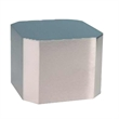 "Large Silver Cube Base - 2.75"" x 3.5"" x 3.5"" large silver cube base for awards."