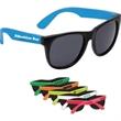 "Neon Colored Sunglasses - Neon colored sunglasses, 2"" H x 5.5""L."
