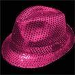 Pink Sequin Costume Fedora - Pink sequin Costume fedora, blank.