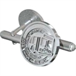 Corporate Cufflinks - Pair of sterling silver round cufflinks.