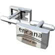 Corporate Cufflinks - Pair of stainless steel cufflinks.