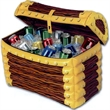 "Inflatable Treasure Chest Cooler - Inflatable treasure chest cooler, 24"" x 17"". Blank."