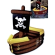 "Inflatable Pirate Ship Cooler - Inflatable pirate ship cooler, 3' 3"" x 33"". Blank."