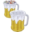 Inflatable Beer Mug Cooler - Inflatable beer mug cooler holds approximately forty-eight 12 oz cans. Blank.