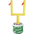 "Inflatable goal post cooler with football - Inflatable goal post cooler with football, 28"" x 6' 2"". Blank."