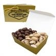 2 Way Treasure Chest / Pistachio Nuts & Chocolate Peanuts - Treasure chest shaped box with pistachios & chocolate peanuts.