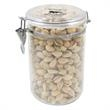 Large Acrylic Snack Container/ Pistachio Nuts - Pistachio nuts in a large acrylic snack container.