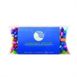 Pillow Case with Business Card Slot - Plastic pillow case container with business card slot and filled with chocolate covered sunflower seeds