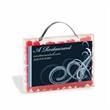 Briefcase Candy Container with Business Card Slot - Briefcase shaped candy container with business card slot and filled with cinnamon Red Hots®