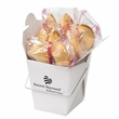 Fortune Cookies in Carry Out Container - Customizable Chinese food carry out containers with 6 fortune cookies inside