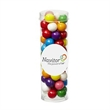 Small Tube with Clear Cap / Gumballs - Small tube with clear cap, filled with gumballs