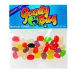 Jelly Beans (Assorted) / Header Bag - Customizable clear header bag filled with assorted jelly beans, 2 oz.