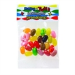 1 oz Jelly Belly®Jelly Beans(Choose Your Color)Header Bag - Customizable clear header bag filled with colorful Jelly Belly® jelly beans, 1 oz.