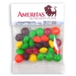 1 oz Skittles® / Header Bag - Customizable clear header bag filled with Skittles® candies, 1 oz.