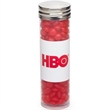 Large Tube with Silver Cap / Red Hots® - Large tube with silver cap that's filled with cinnamon Red Hots®