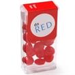Flip Top Candy Dispenser / Red Hots® - Mini plastic flip-top candy dispenser filled with cinnamon Red Hots®