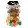 Glass Teddy Bear Jar / Mini Gummy Bears - Teddy bear shaped glass jar filled with mini gummy bears