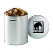 Quart Round Tin / Trail Mix - Trail mix in a quart round tin with lid.