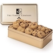 Large Rectangle Tin / Mini Cookies - Mini cookies in a large rectangular tin with lid.