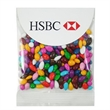 1 oz Chocolate Covered Sunflower Seeds - Gemmies (R) - 1.3 oz chocolate covered sunflower seeds in a header bag with round top.