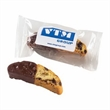 Small Chocolate Dipped Biscotti - Individually wrapped chocolate dipped biscotti