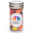 Small Tube with Silver Cap / Skittles® - Small clear plastic tube with silver cap that's filled with Skittles® candies