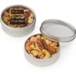 Small Round Window Tin / Mixed Nuts - Mixed nuts in a small round window tin.