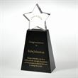 "Award-Clear Star With Black Base 8"""