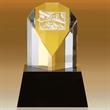 """Darby Fan Shaped Award 4 1/2"""""""