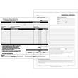 Custom edge snap set forms - Custom edge snap set carbonless forms, 2 parts, perforated tab across side.