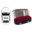 Car Tin with Cinnamon Red Hots Candy - Car shaped candy tin with cinnamon red hots candy.