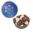 The Grand Tin with Chocolate Covered Mini Pretzels-Snowflake