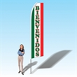 15FT Welcome Red and Green Advertising Banner Flag - 15FT Welcome Red and Green Advertising Banner Flag
