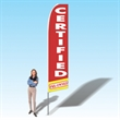 15FT Certified PreOwned Advertising Banner Flag - 15FT Certified PreOwned Advertising Banner Flag