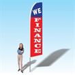15FT We Finance Advertising Banner Flag - 15FT We Finance Advertising Banner Flag