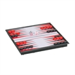 Magnetic Backgammon Set -Small Travel Size - Travel backgammon set with all pieces inside. Magnetized board for play on the move.