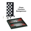 3-in-1 Combination Game Set -Small Travel Size - 3-in-1 small travel combination game set. Includes chess, checkers and backgammon.