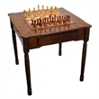 Elegant Chess, Checkers, and Backgammon Table - Beautiful wood game table with storage drawer. Displays chess and checker board.