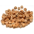 Wooden Dice with Rounded Corners - 100 Pack - 100-pack of wooden dice. Great for board and casino games or educational purposes.