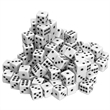 White Opaque Dice - 100 Pack - 100-pack of white, opaque plastic dice. Great for games or educational purposes.